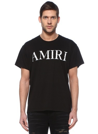 Amiri Polo Yaka T-shirt Siyah